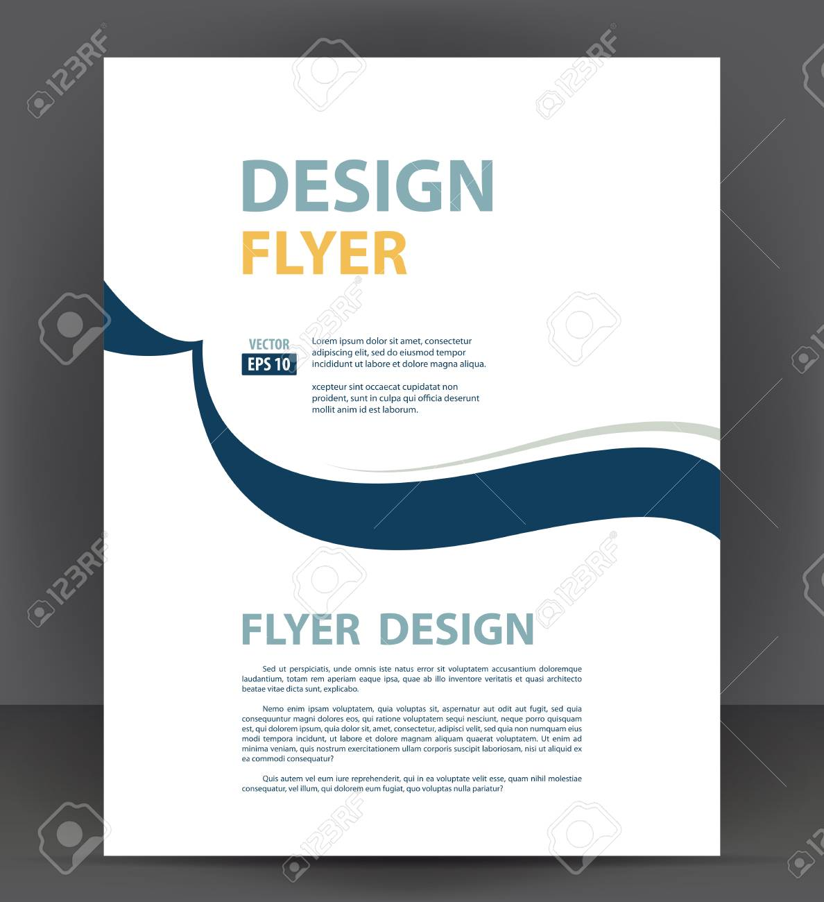 Brochure cover layout design print template, pamphlet vector