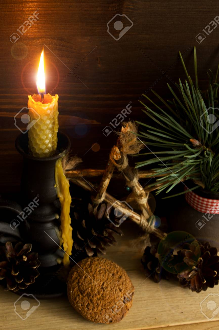 Candlestick from natural materials 41