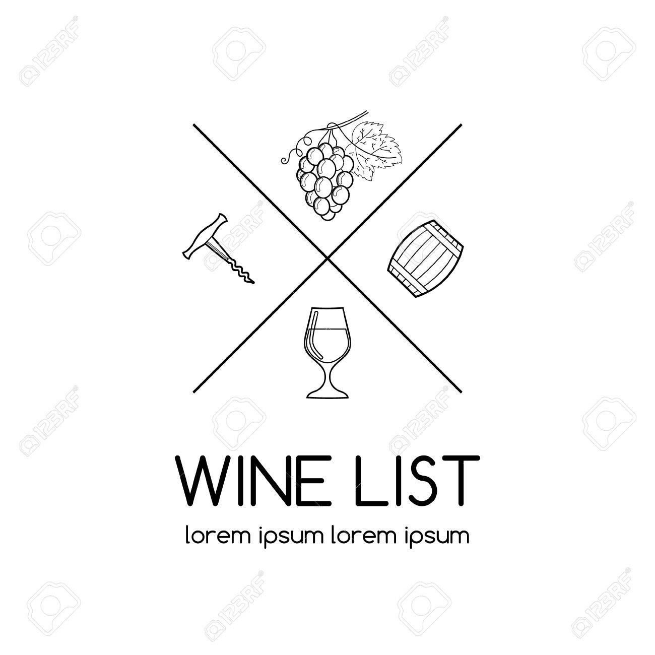Wine or label for wine list vineyard or winery wine list wine or label for wine list vineyard or winery wine list with glass biocorpaavc Gallery
