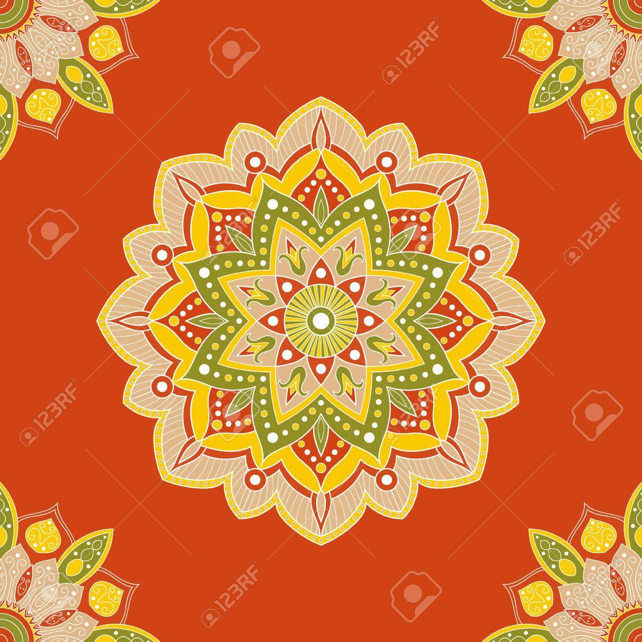 nahtlose mandala muster fr geschenkpapier stoff oder tapete hand orientalische ornament mandala dekoration - Tapete Orientalisches Muster