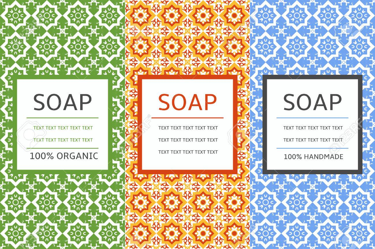 soap package patterns seamless vector vector set of design elements for soap labels and