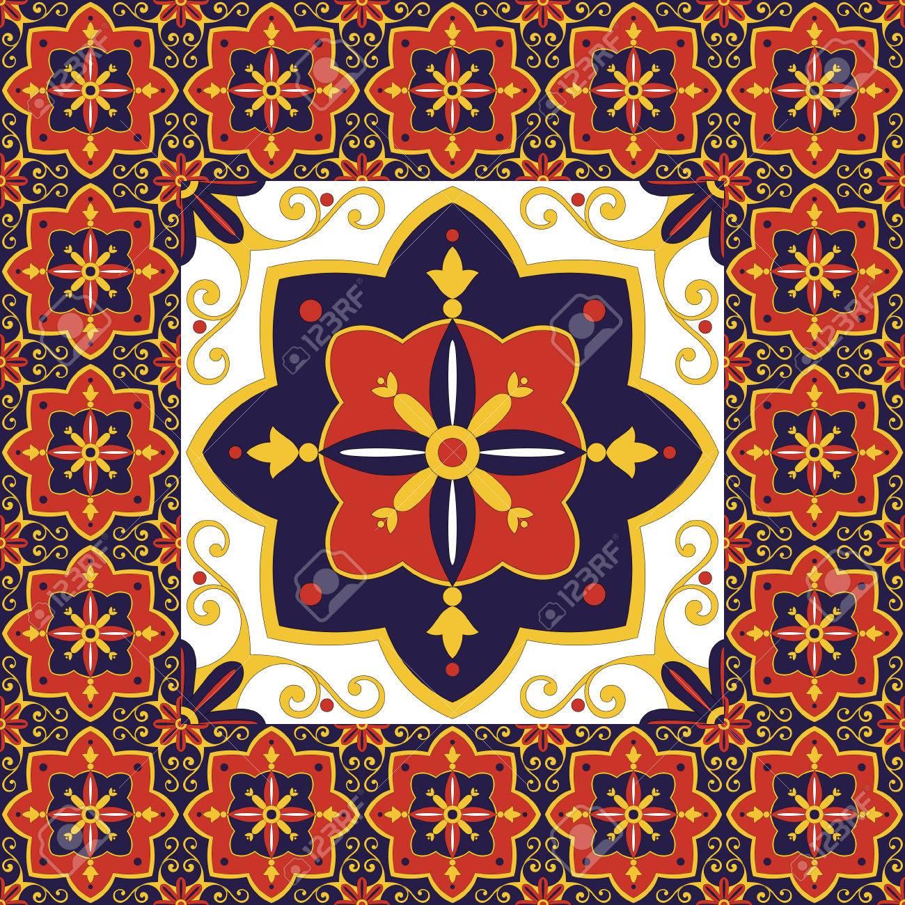 Fliesen Boden Vintage Muster Vektor Mit Keramik Zementfliesen - Fliesen wie zementfliesen