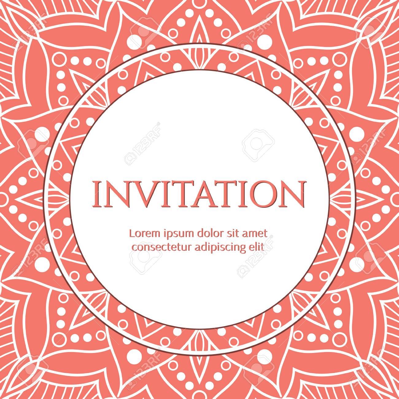 Vector De Plantilla Para Guardar La Tarjeta De Fecha Despedida De Soltera Boda Fiesta De Cumpleaños U Otra Invitación Con Encaje Blanco Sobre Fondo
