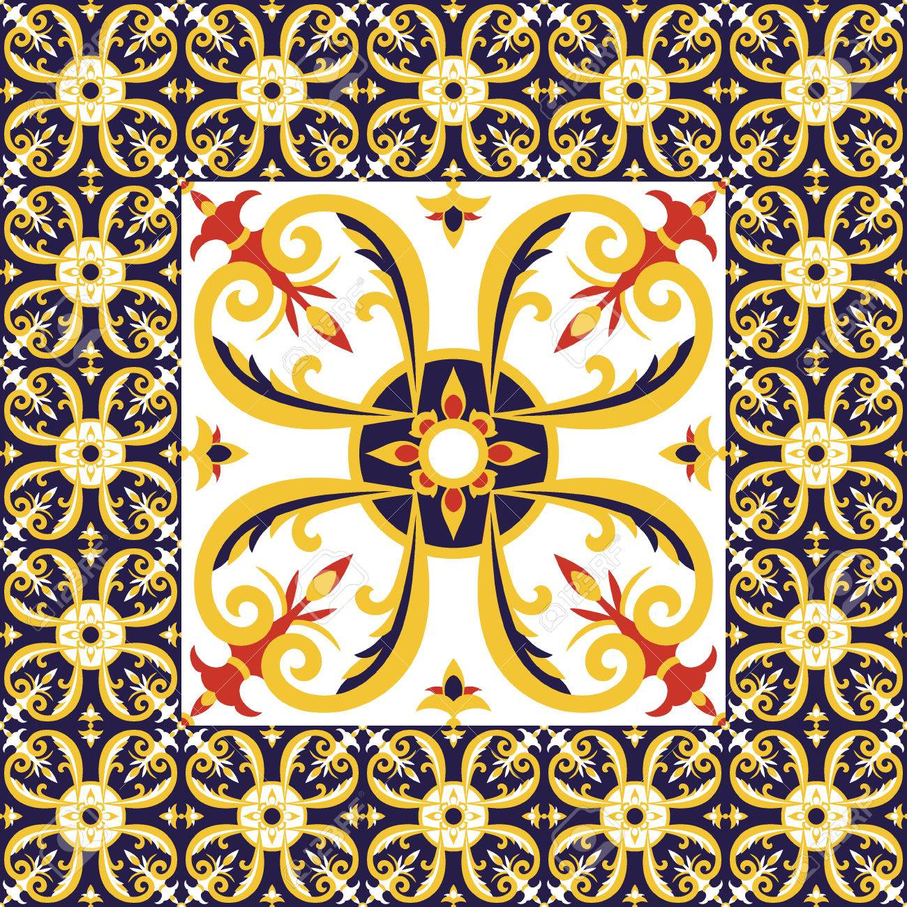 Tiles floor pattern vector with ceramic tiles big tile in center tiles floor pattern vector with ceramic tiles big tile in center is framed in small dailygadgetfo Gallery