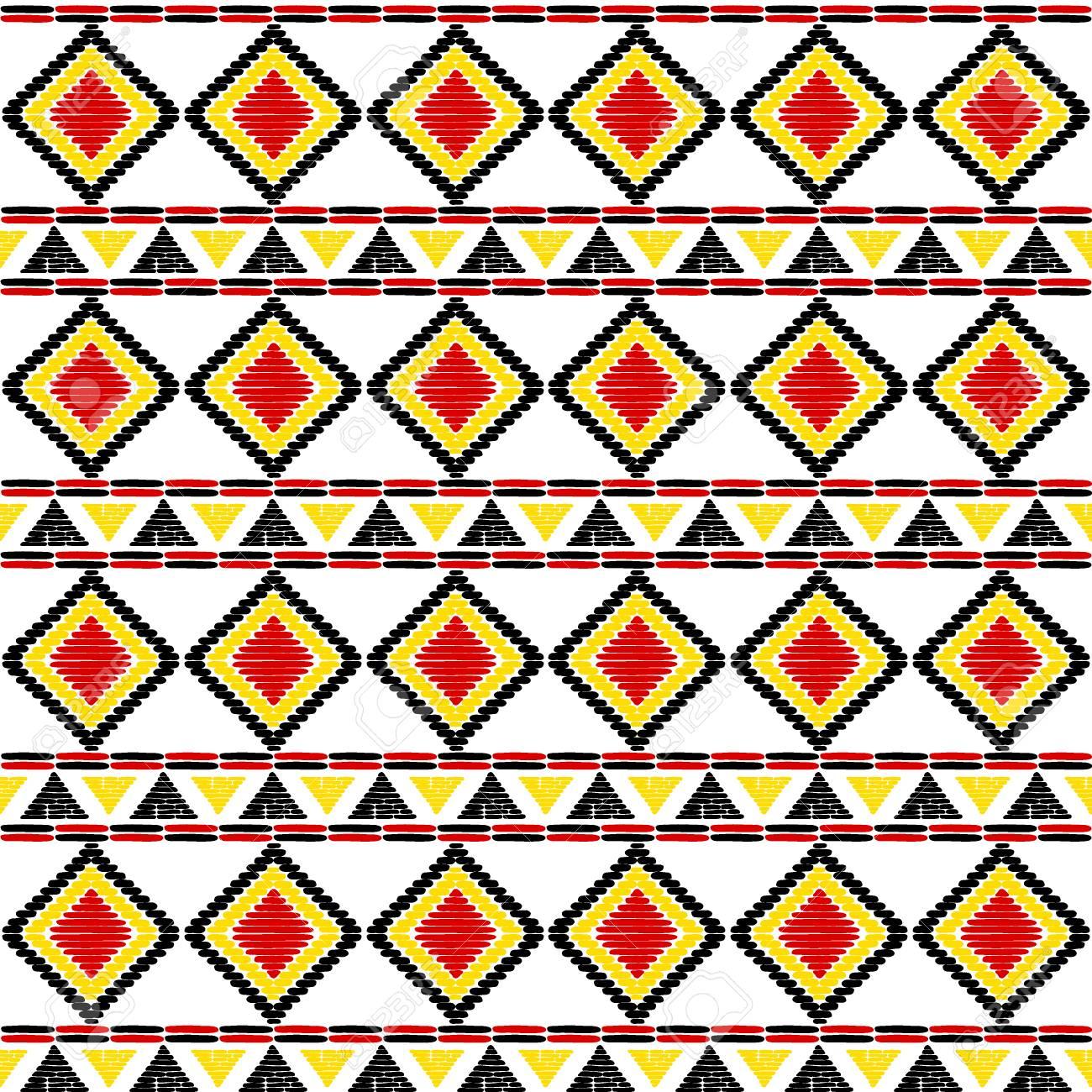 tribal pattern vector seamless uganda african print background