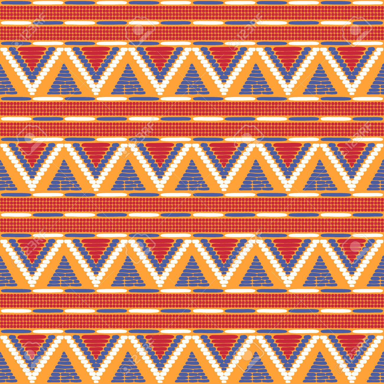 Tribal Pattern Vector Seamless Border Background For Fabric Wallpaper Wrapping Paper And Boho Card