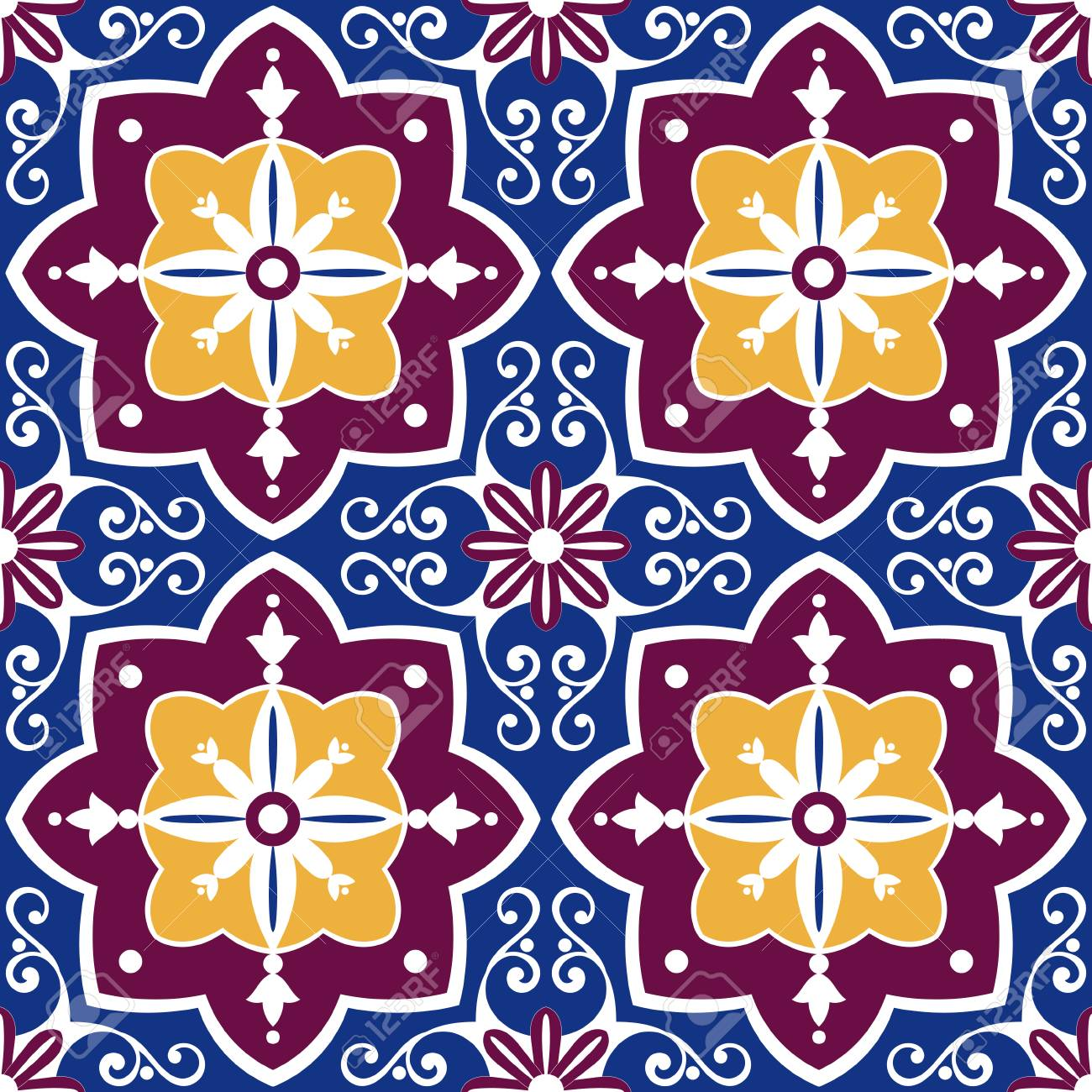Islamic Design Decoration Arabic Carpet Pattern Ramadan Kareem Background Vector Stock