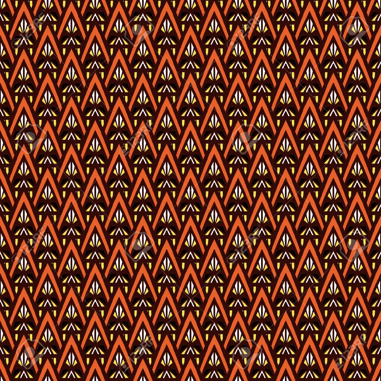 African tribal pattern vector seamless  Ethnic africa fabric
