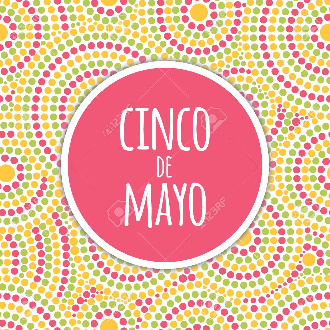 Cinco De Mayo Background Vector Festive Design For Fiesta Banner Or Party Invitation And Poster