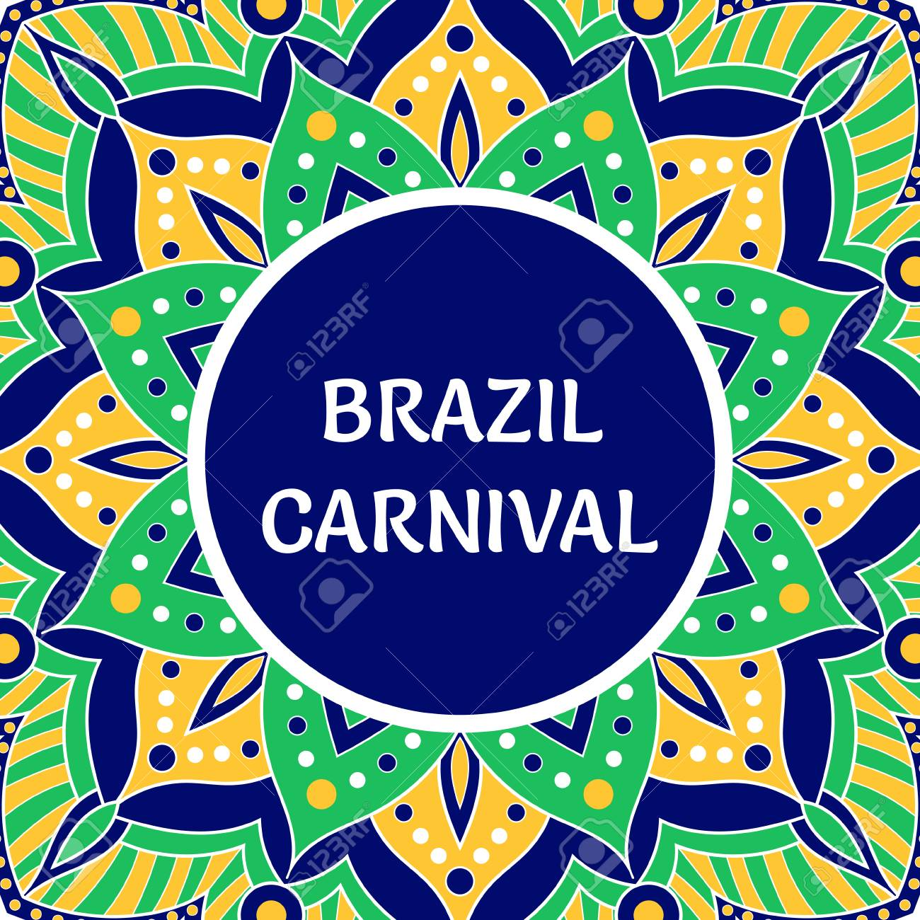 Brazil Carnival Illustration Vector Tropical Colorful Background Royalty Free Cliparts Vectors And Stock Illustration Image 111883221