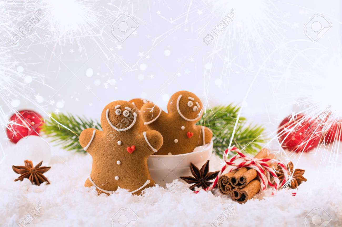 Happy Chill Out Time Group Of Smiling Gingerbread Men Cookies