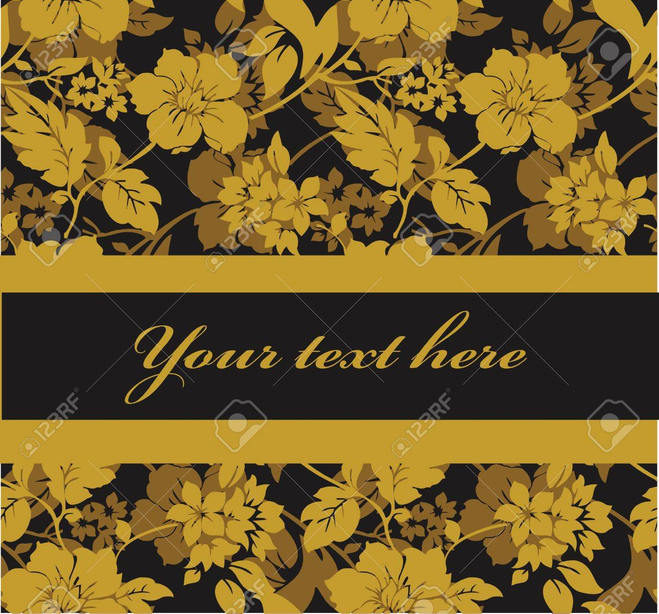 Yellow gold flowers on a dark grey background royalty free cliparts vector yellow gold flowers on a dark grey background mightylinksfo
