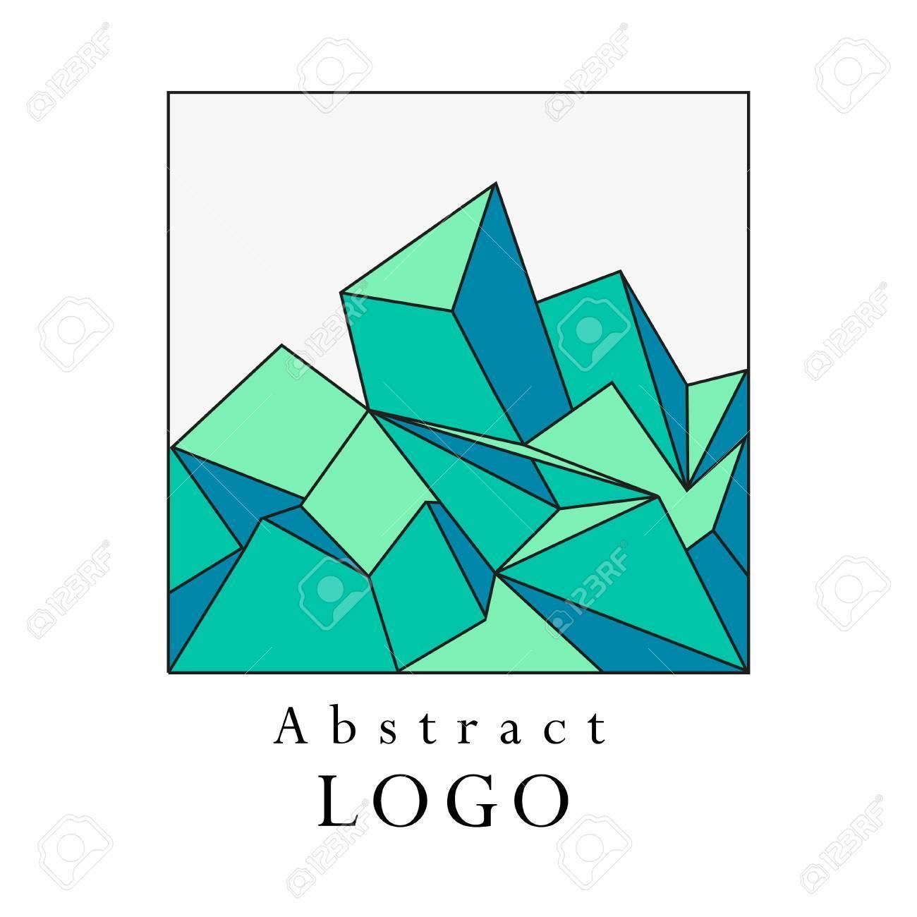 vector polygonal abstract template art color geometric shape
