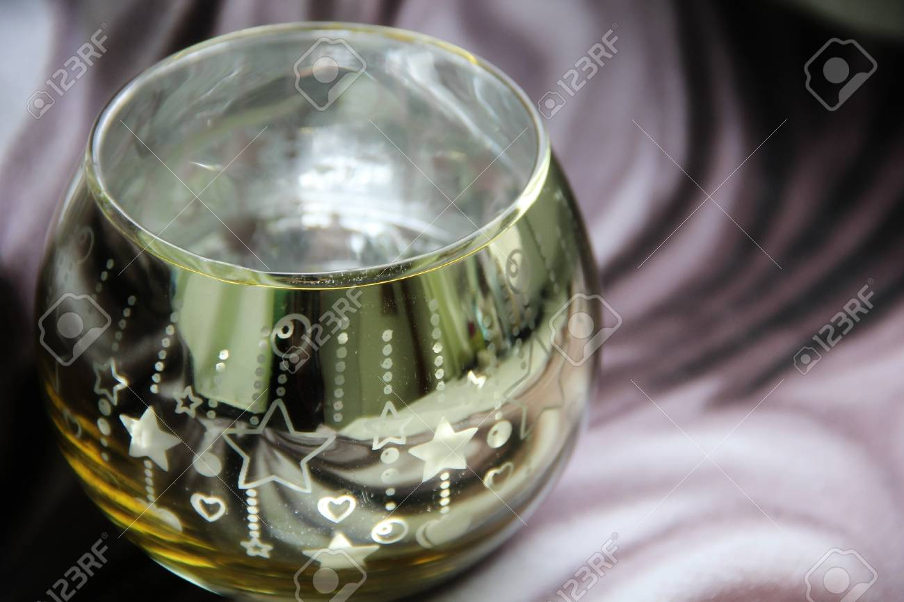 Brilliant Glass Candle Holder With Painted Stars Stock Photo Picture And Royalty Free Image Image 74936961