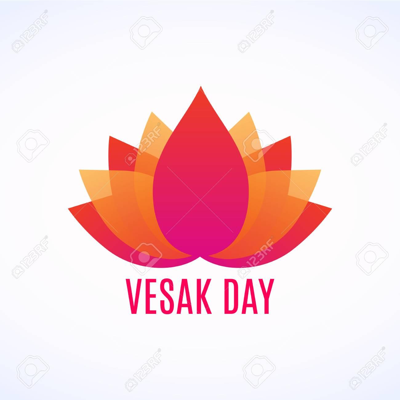 Abstract lotus flower logo with vesak day lettering royalty free abstract lotus flower logo with vesak day lettering stock vector 99960227 izmirmasajfo