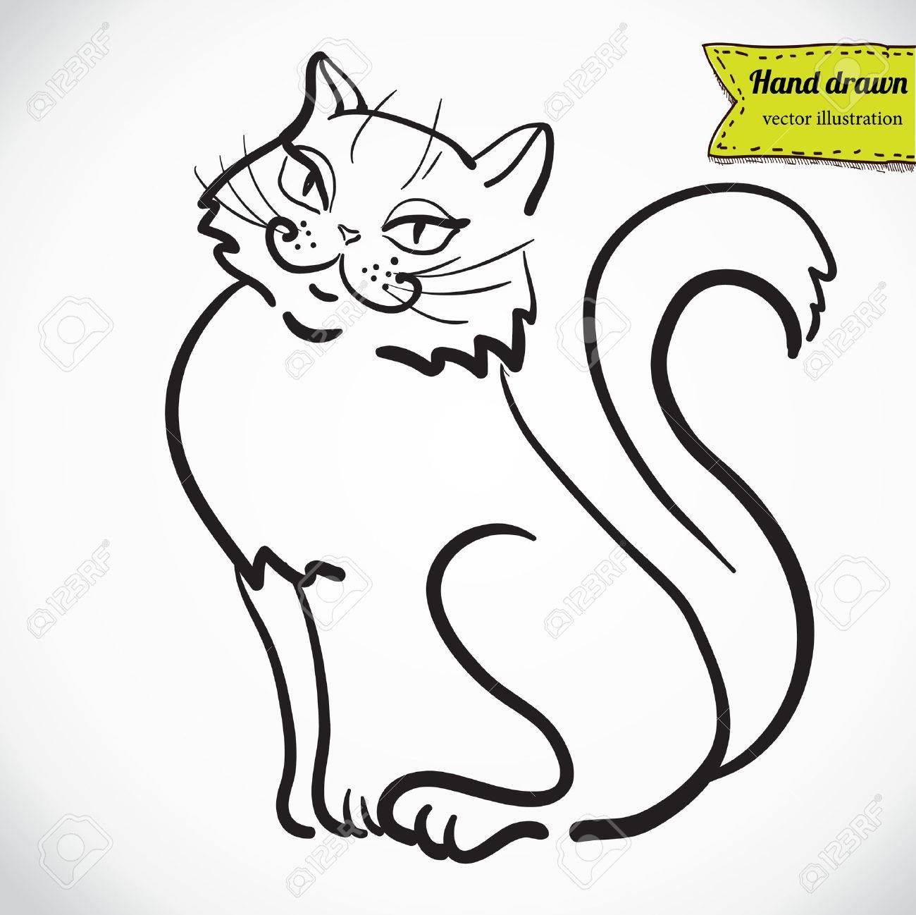 Vettoriale Arte Disegno Del Gatto Di Alta Qualita Di Vettore Image