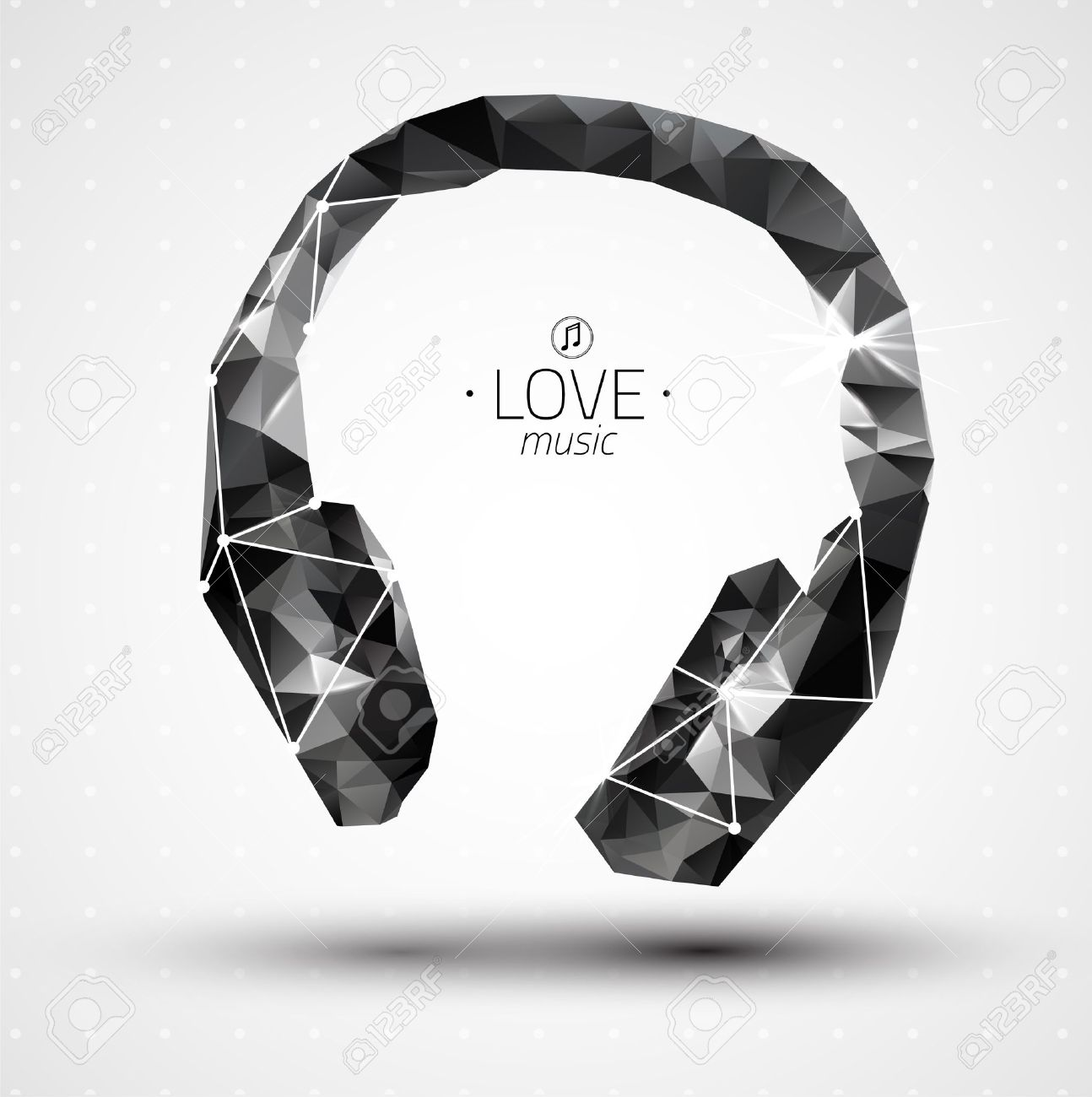 abstract creative concept vector icon of headphone for web and