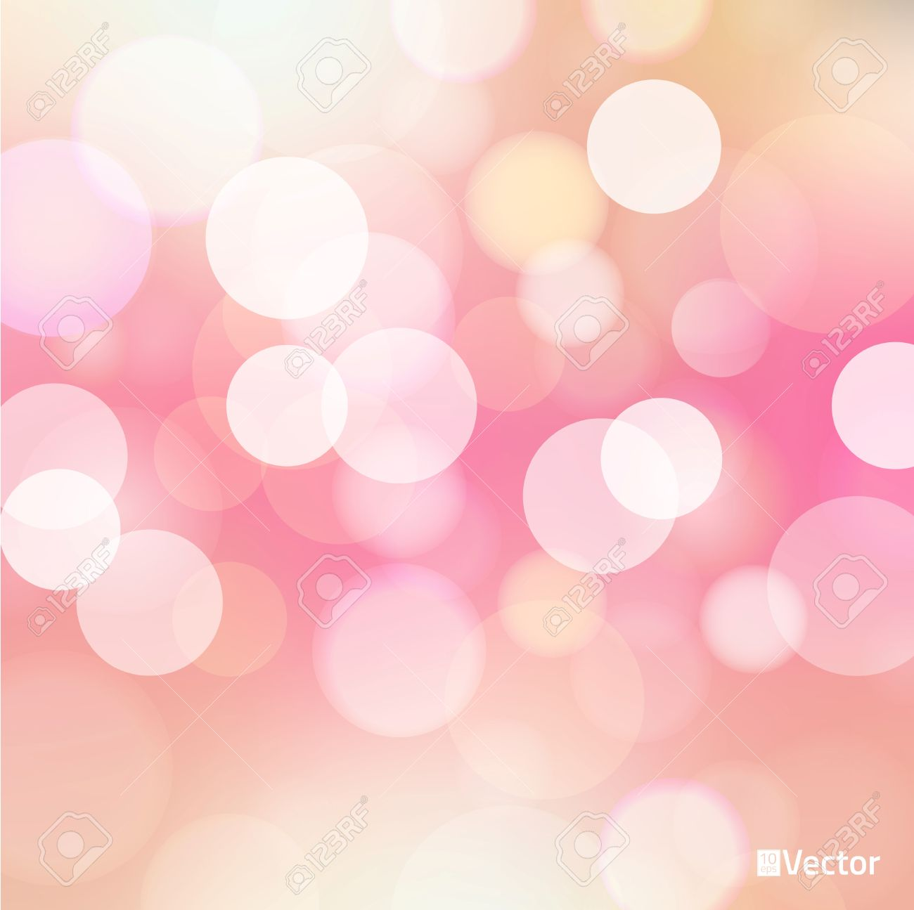 Light Red Bokeh Background Made From White Lights Royalty Free