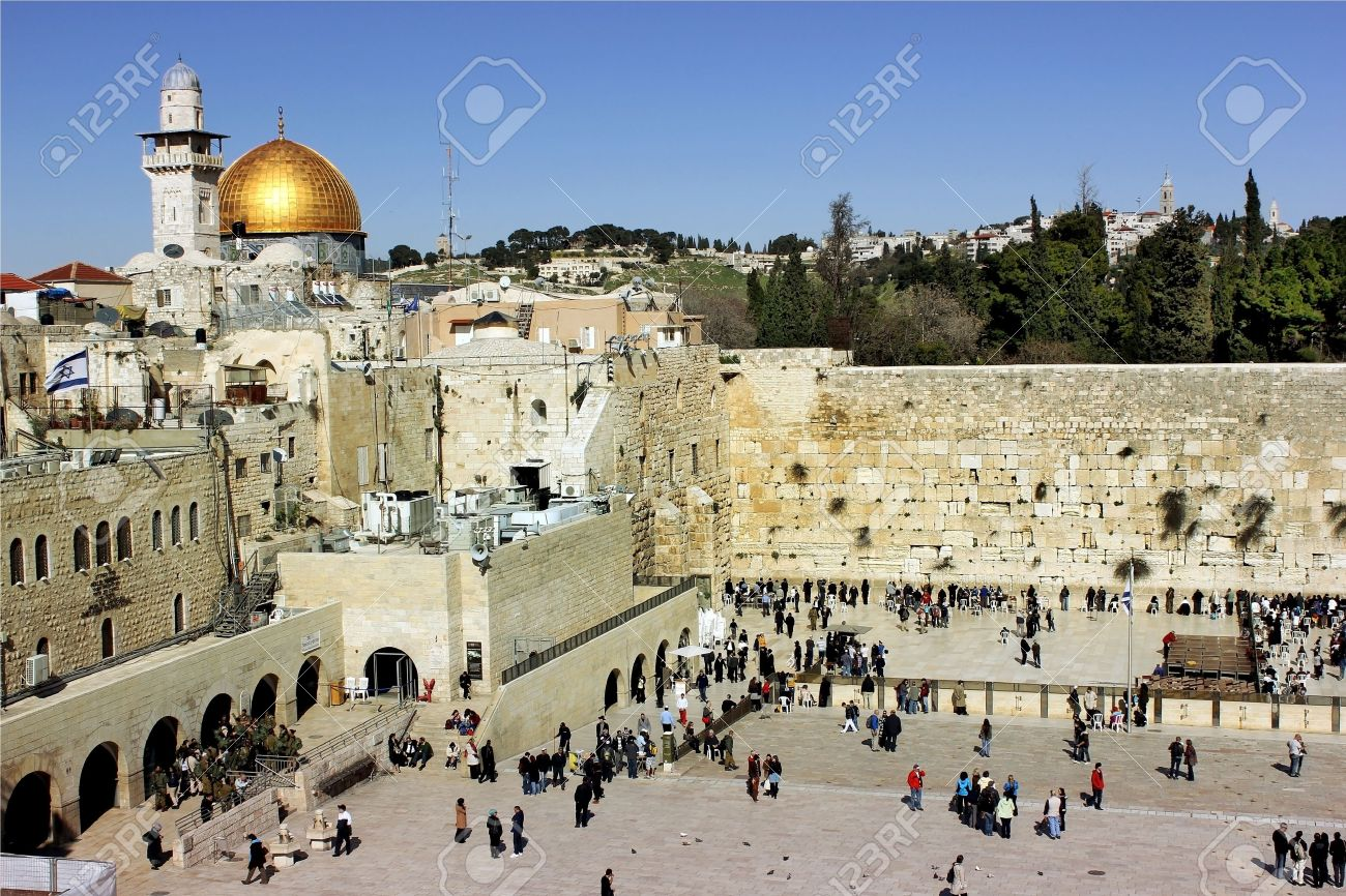 view of the wailing western wall and the area in front of her Stock Photo - 12768129