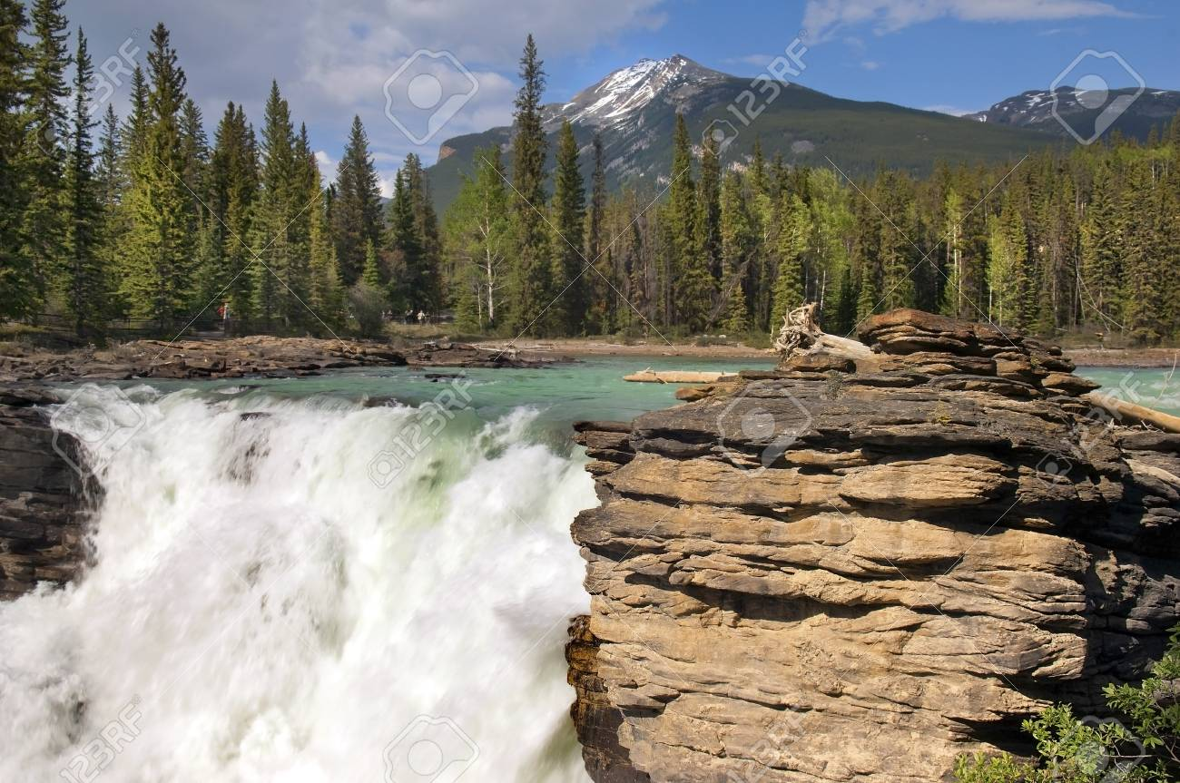 Falls in the rugged mountain river in the Canadian Rockies Stock Photo - 12807169