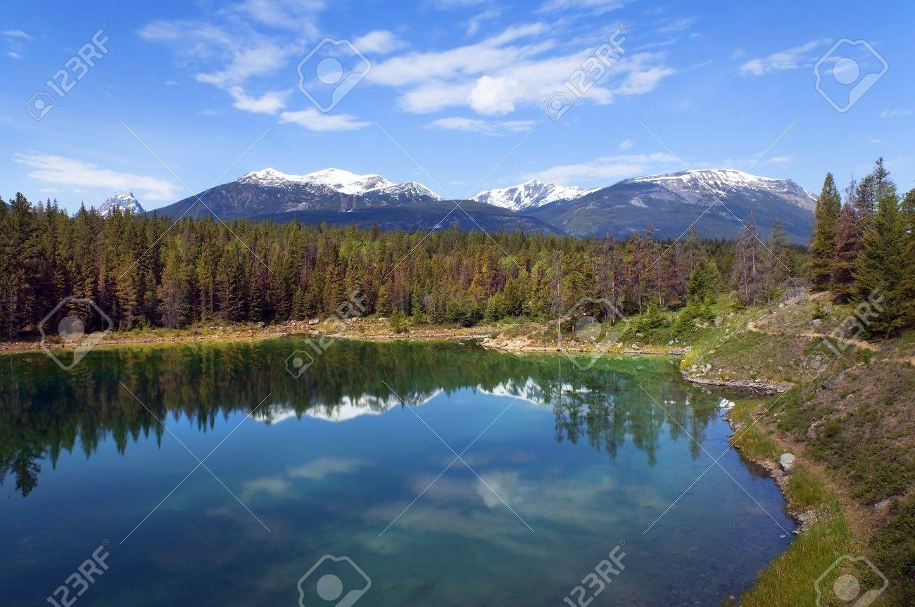 most beautiful landscapes at the foot of the Rocky Mountains in Banff National Park, Alberta, Canada Stock Photo - 13883229