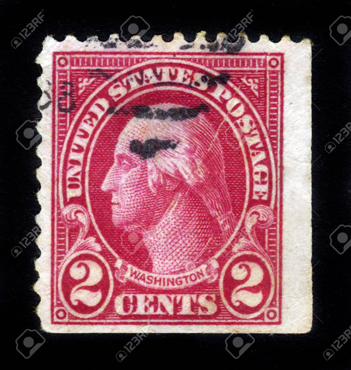 USA - CIRCA 1928  A stamp printed in USA shows Portrait President George Washington circa 1928 Stock Photo - 15132758