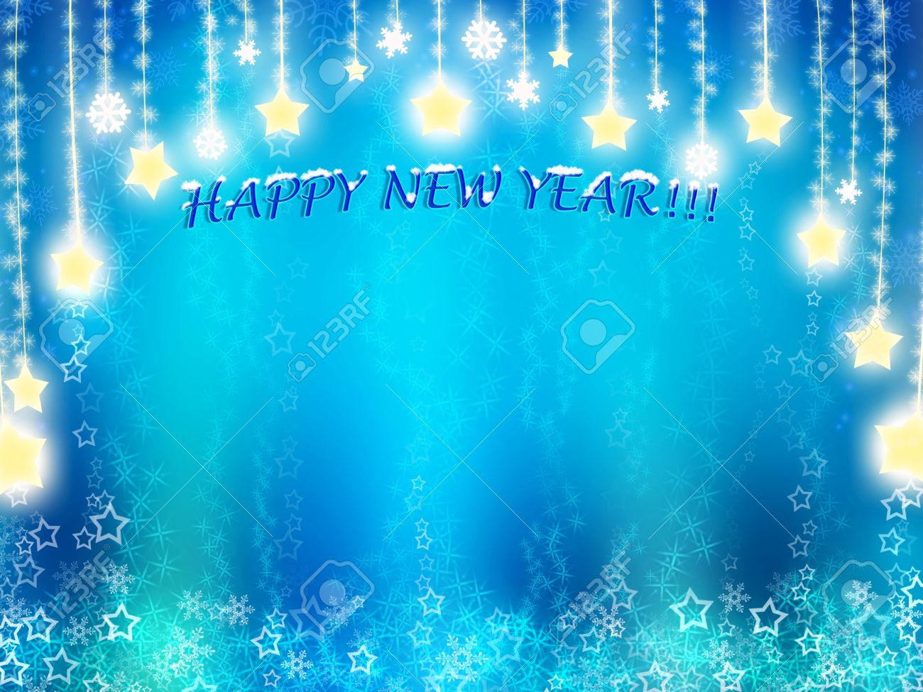 happy new year background in blue tones with stars stock photo 16126391