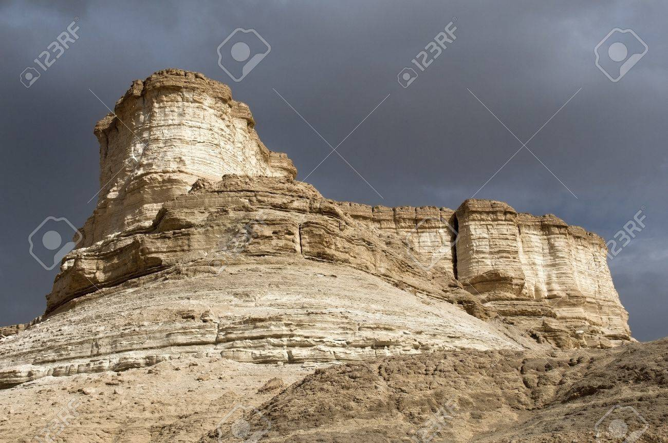unusual erosion of mountains , fragment of the Judean Desert near The Dead Sea, Israel Stock Photo - 16540640