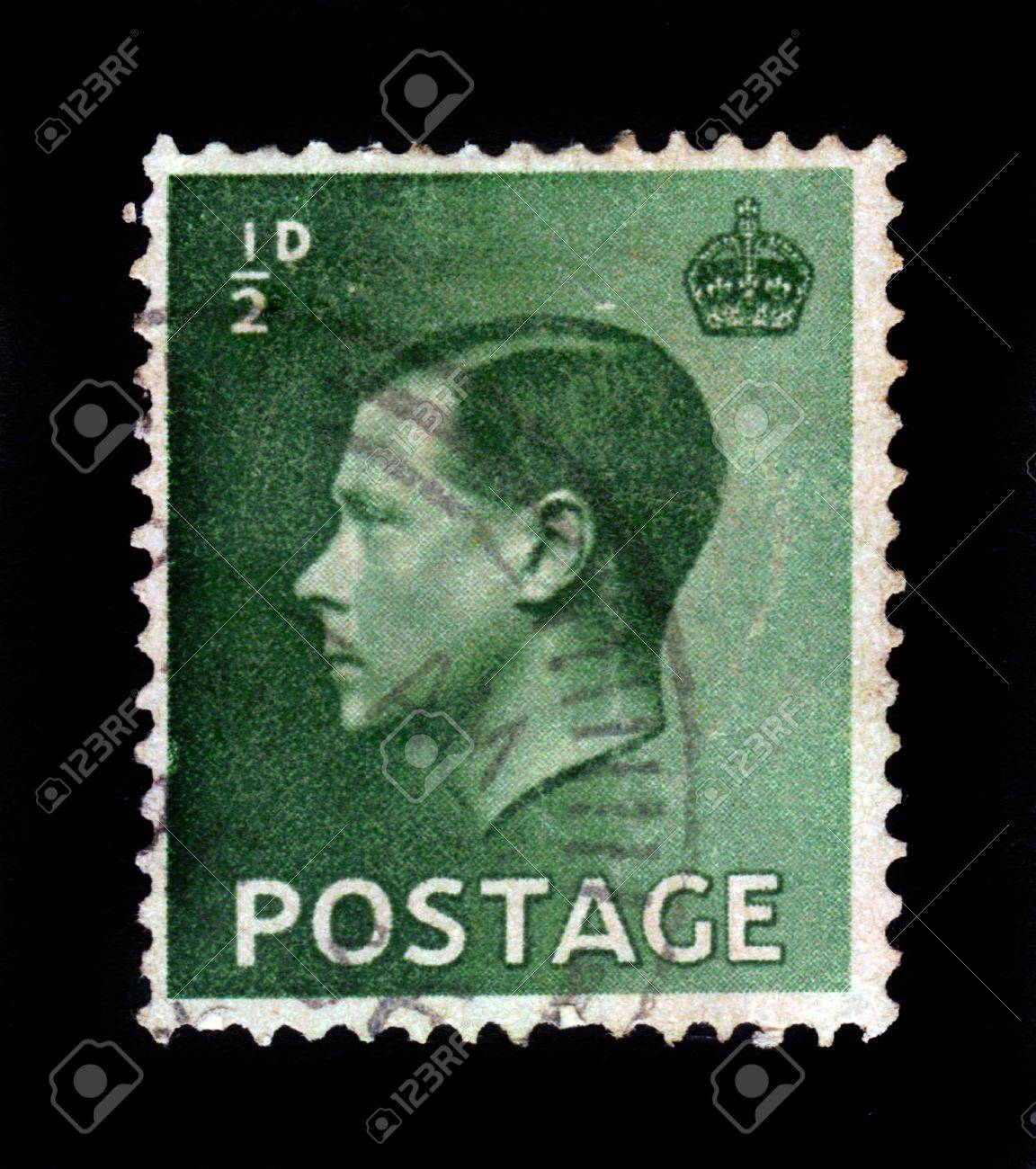 UNITED KINGDOM - CIRCA 1936  A stamp printed in England, shows Edward VIII, King of the United Kingdom, circa 1936 Stock Photo - 17499250
