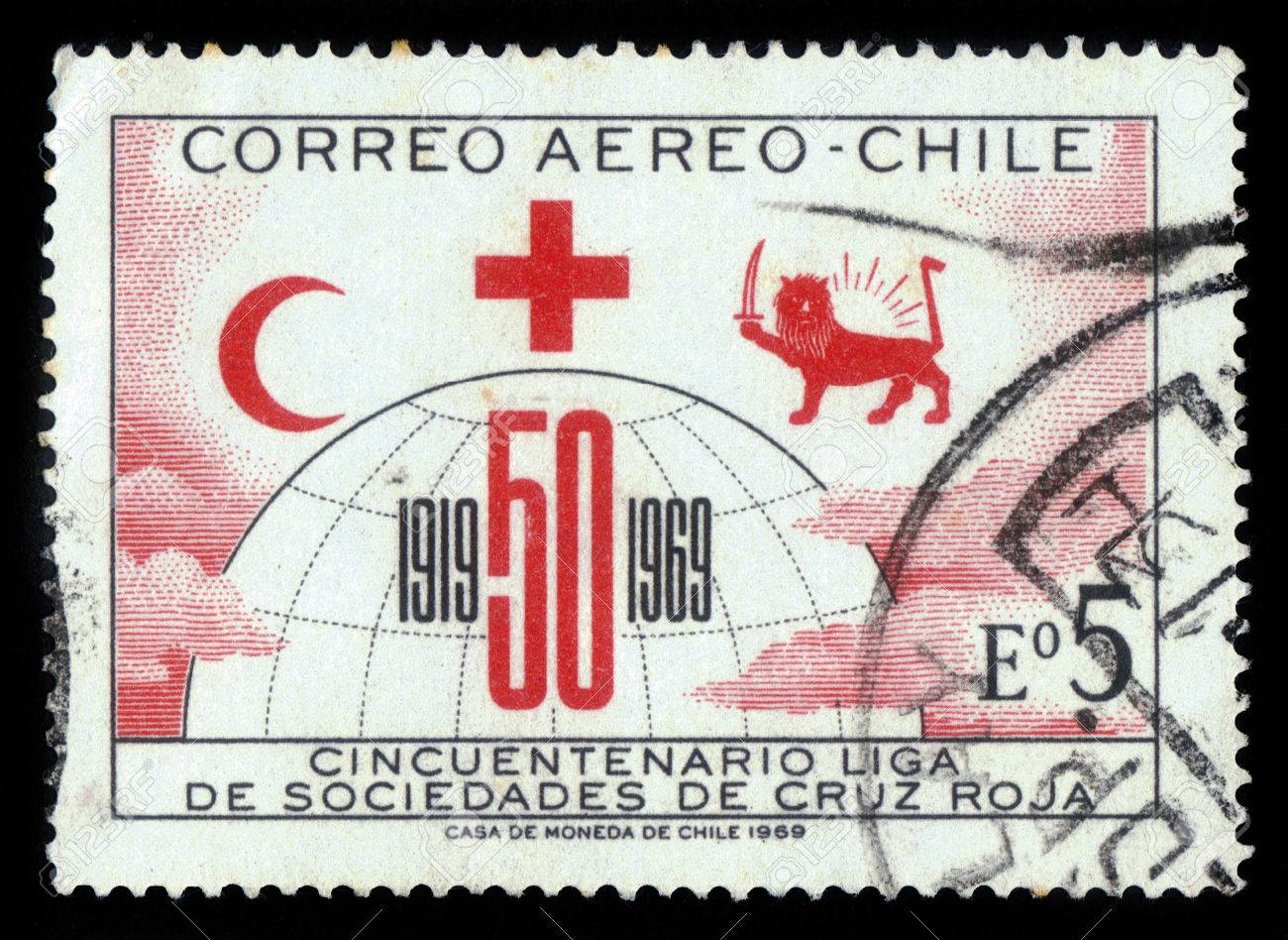 Chile Circa 1969 A Stamp Printed In Chile Shows Symbols Of Stock