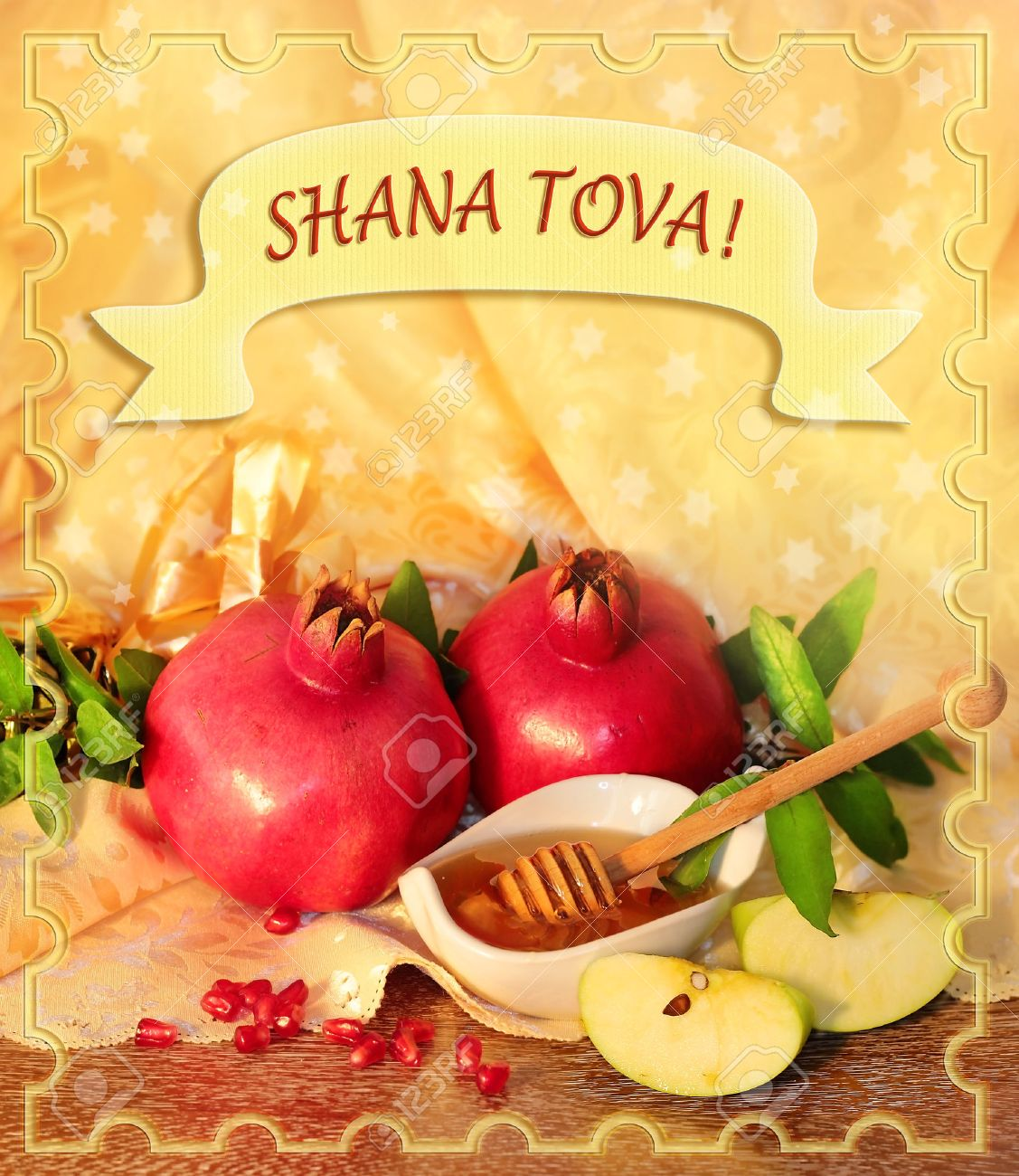 Congratulation To The Holiday Rosh Hashanah Traditional Jewish
