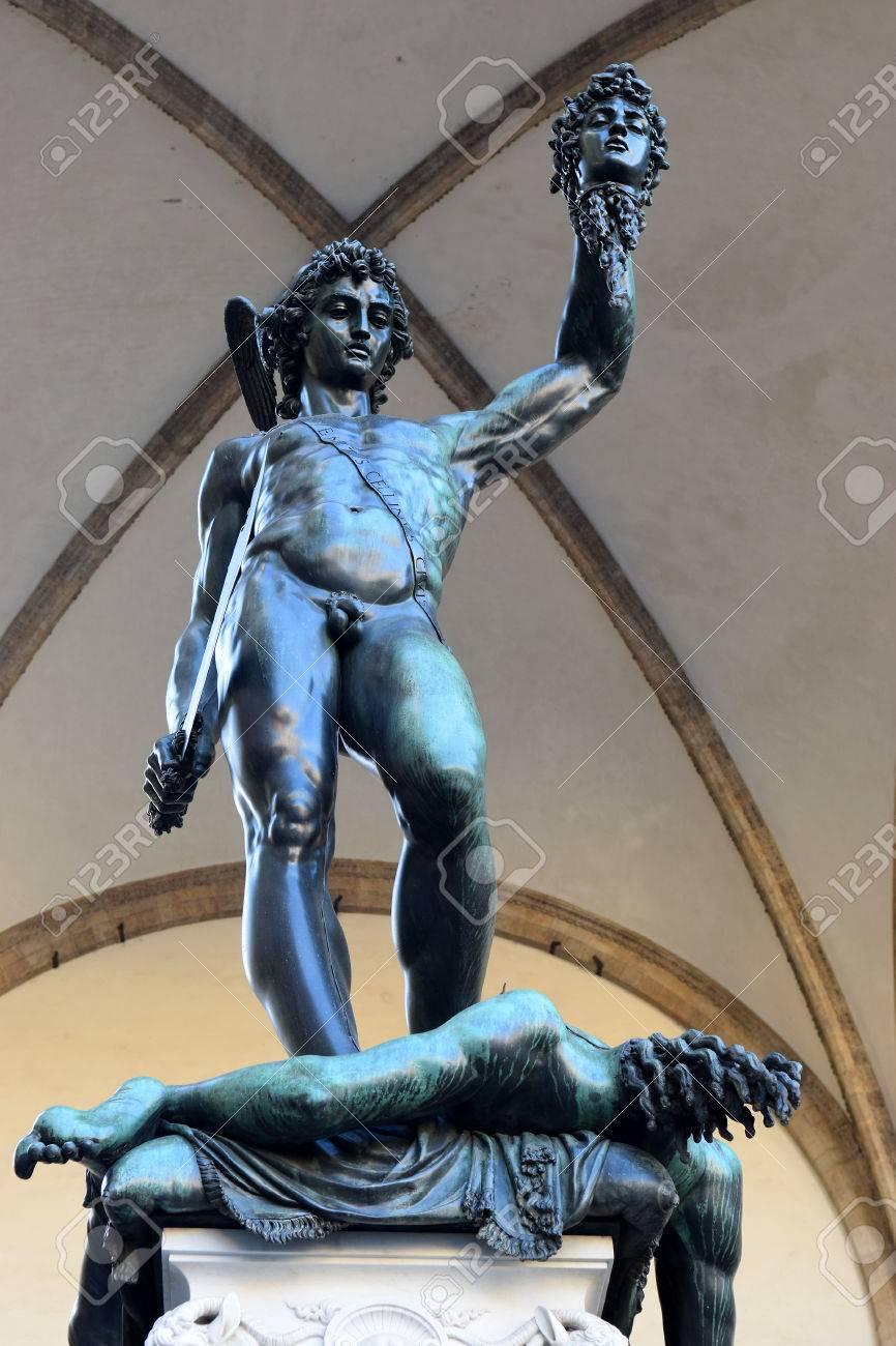 Bronze Statue Perseus With The Head Of Medusa By Benvenuto Cellini