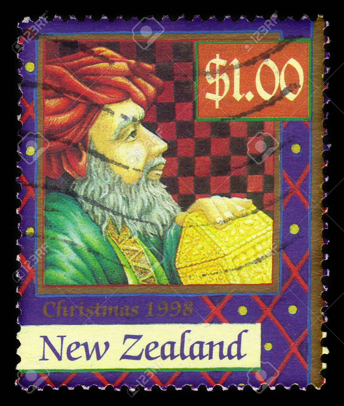 New Zealand - CIRCA 1998: A stamp printed in New Zealand shows