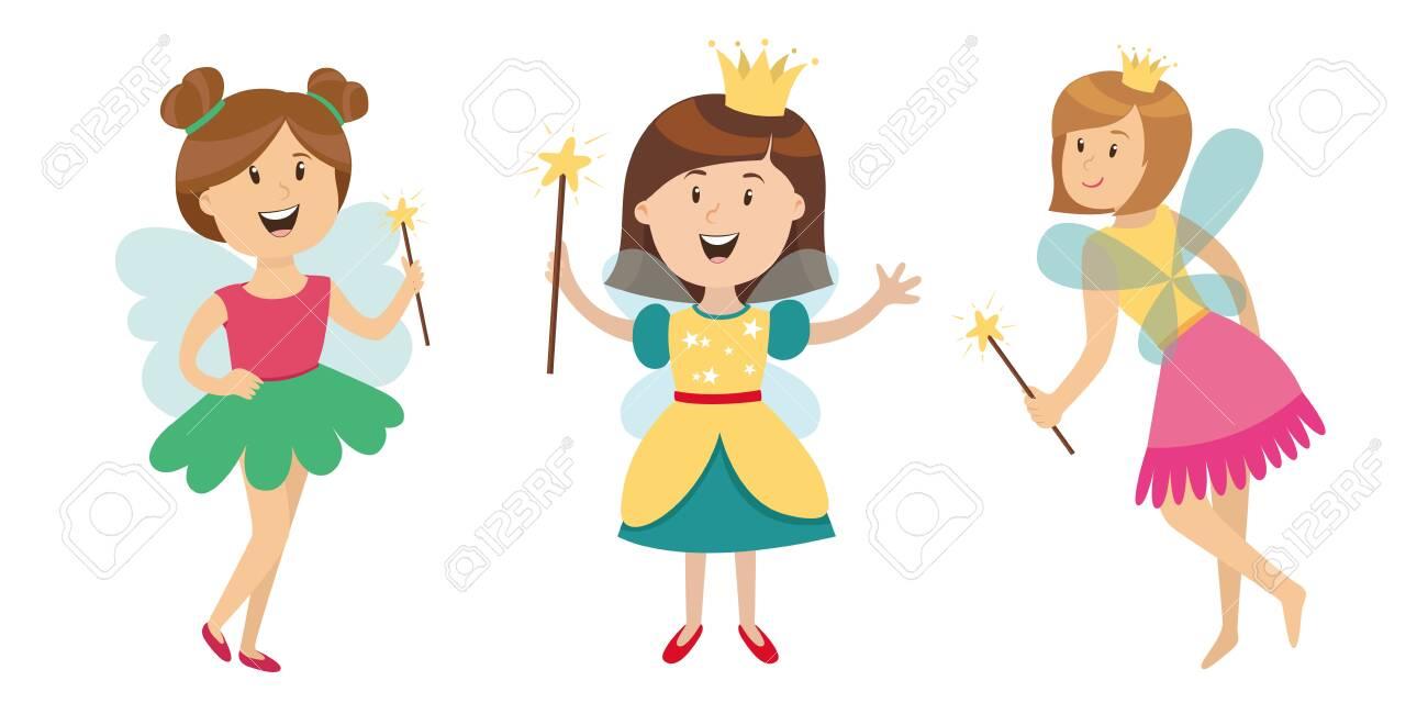 large set of children's characters of people. school pupils, fun jump, vector - 118652451