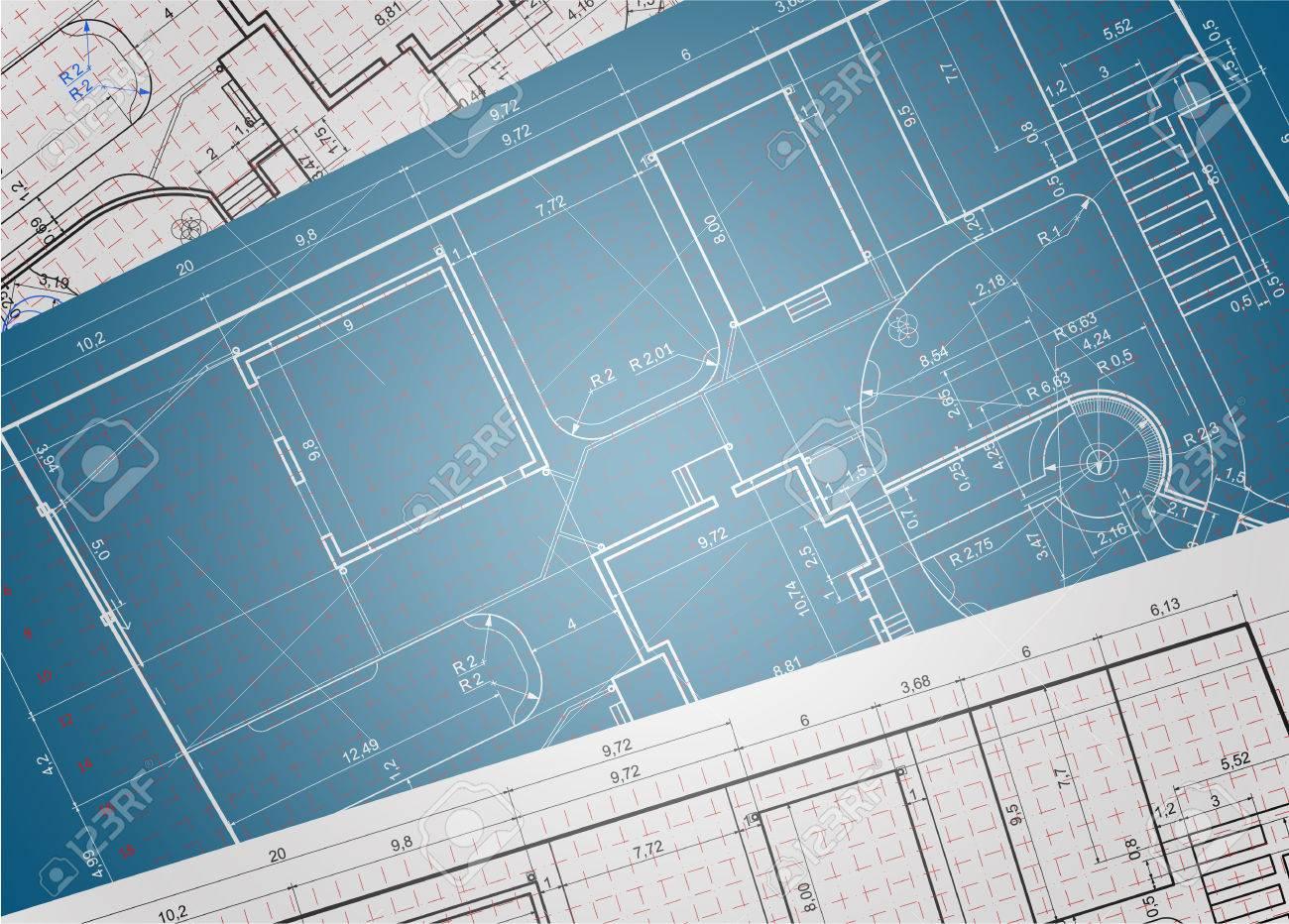 Architectural backgroundurban blueprintndscape design section urban blueprintndscape design section stock vector 62683915 malvernweather Images