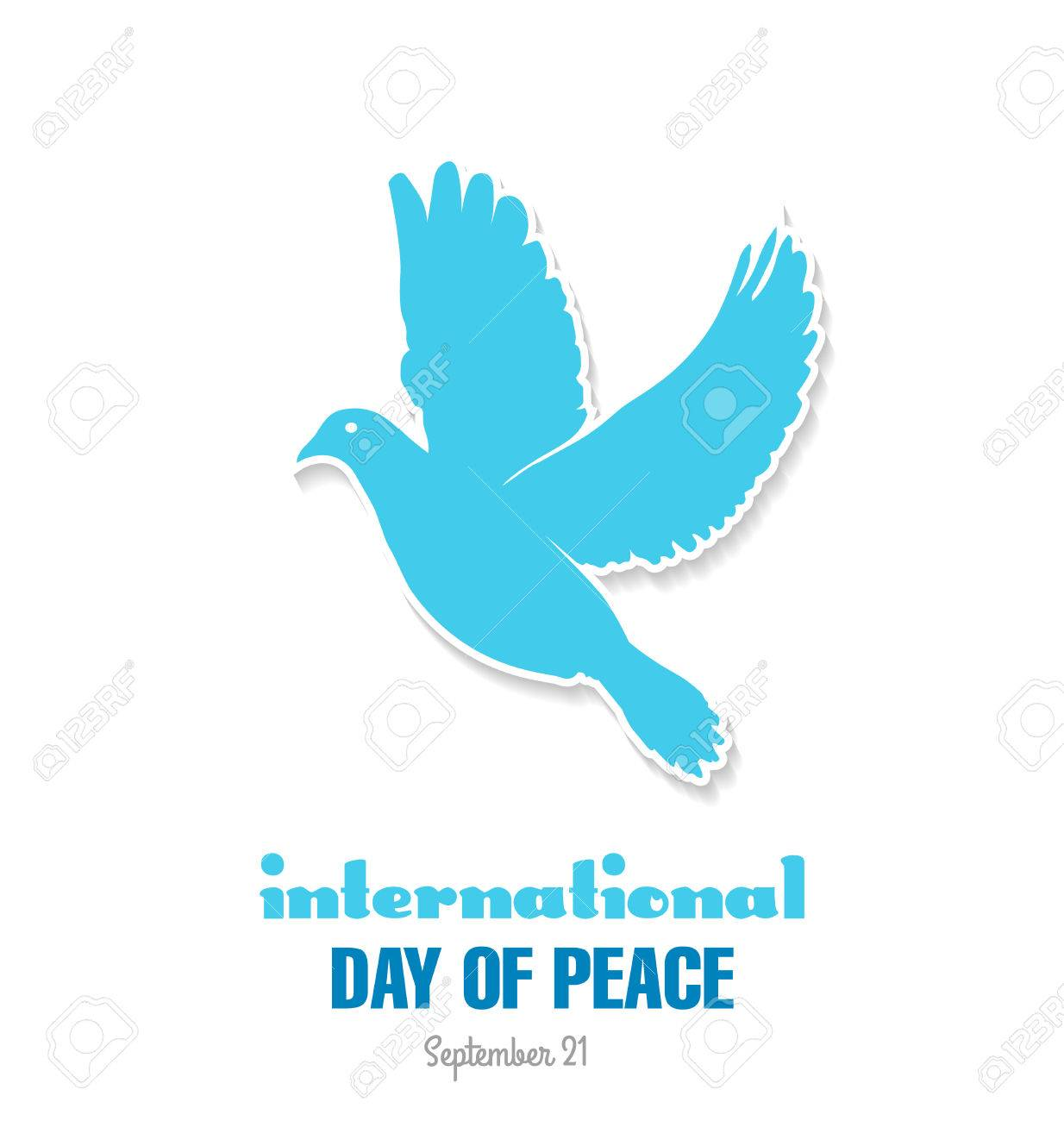 国際平和デー。平和のオリーブの...