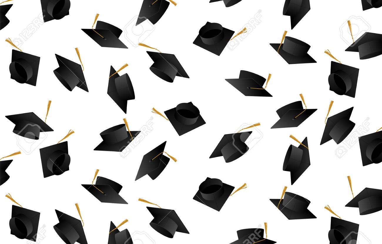 congrats graduates graduate caps caps thrown up royalty free