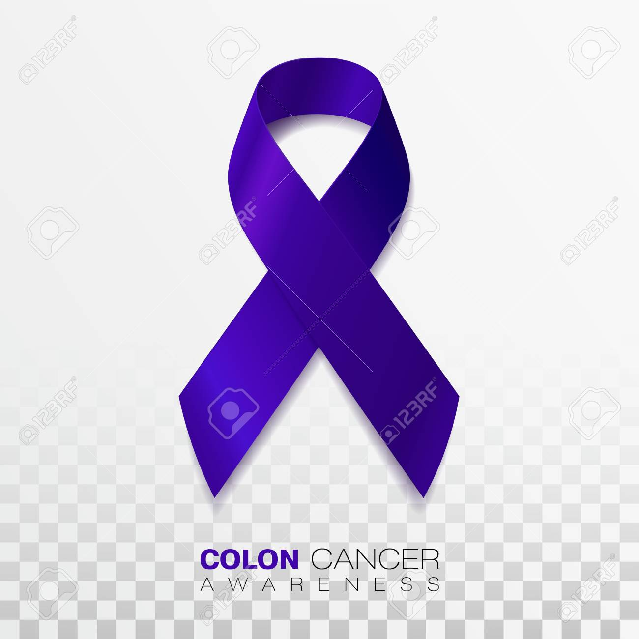 Colon Cancer Awareness Month Dark Blue Color Ribbon Isolated Royalty Free Cliparts Vectors And Stock Illustration Image 120177234