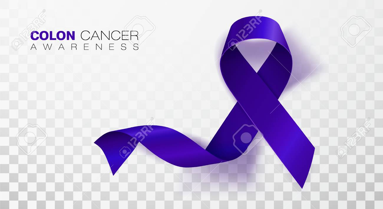 Colon Cancer Awareness Month Dark Blue Color Ribbon Isolated Royalty Free Cliparts Vectors And Stock Illustration Image 125227350
