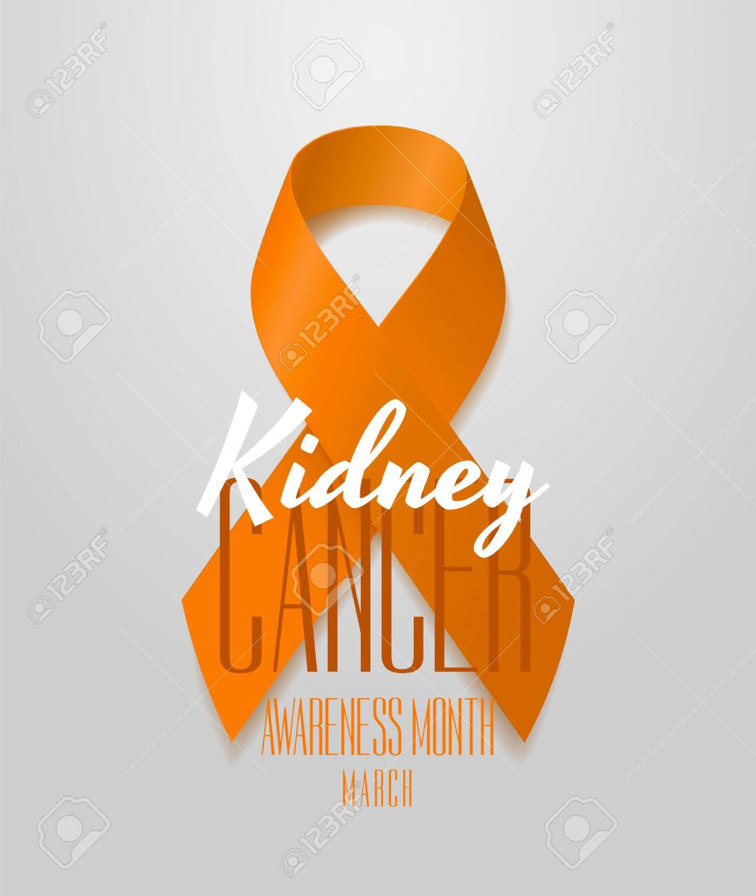 National Kidney Cancer Awareness Month Orange Color Ribbon Isolated Royalty Free Cliparts Vectors And Stock Illustration Image 120093368