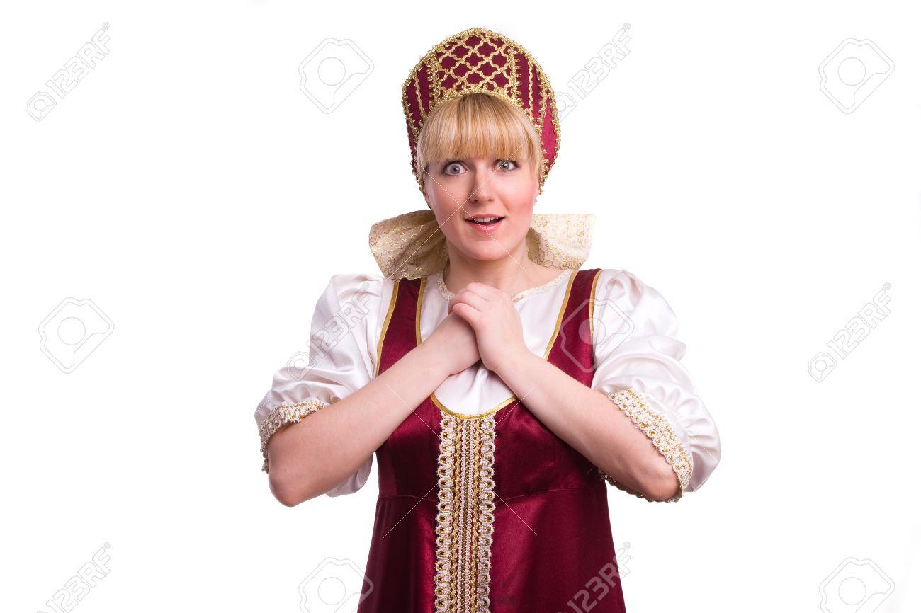 Фото девушка в красном сарафане 7 фотография