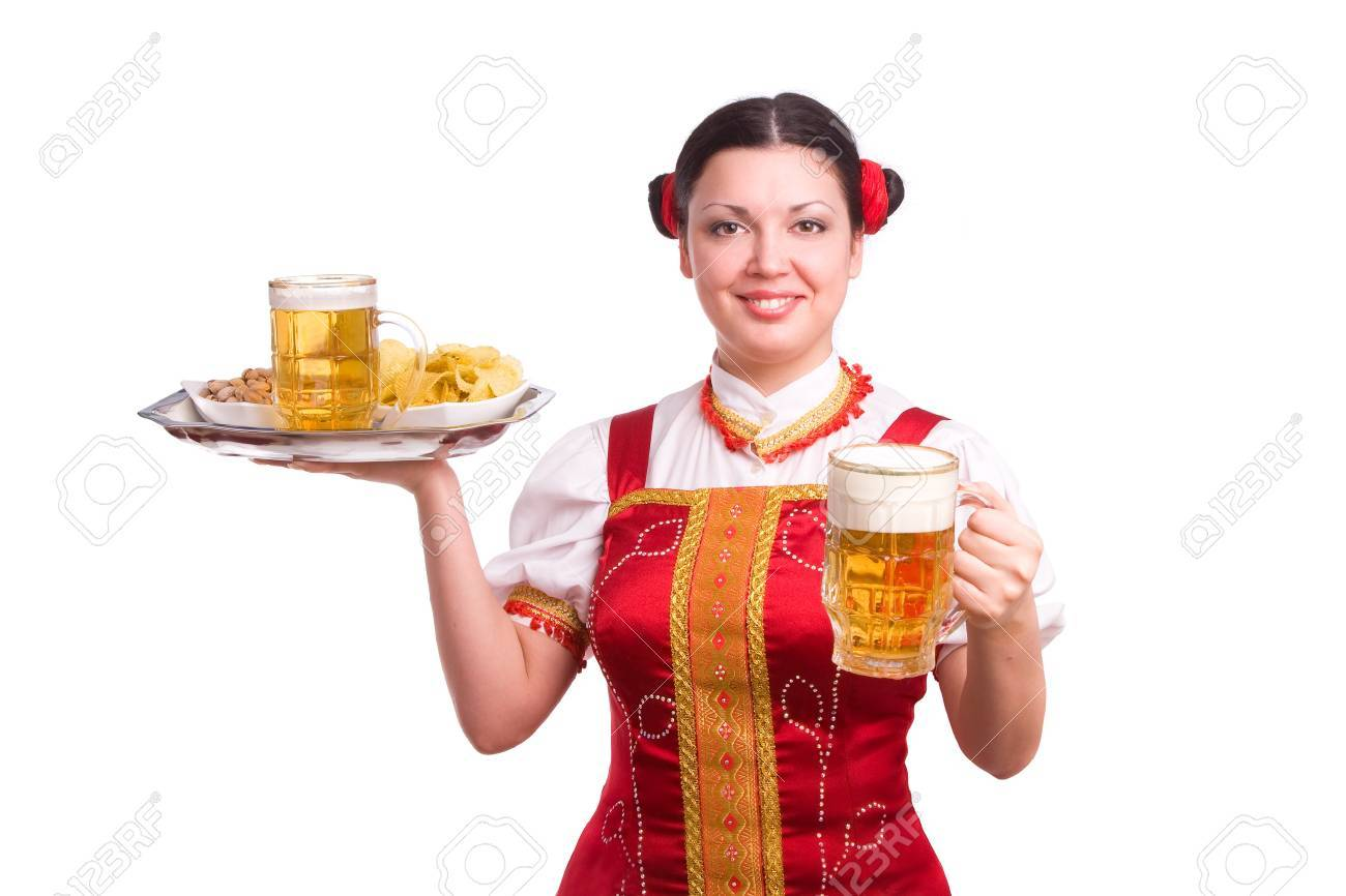 German/Bavarian girl with a traditional Oktoberfest Stock Photo - 7228377