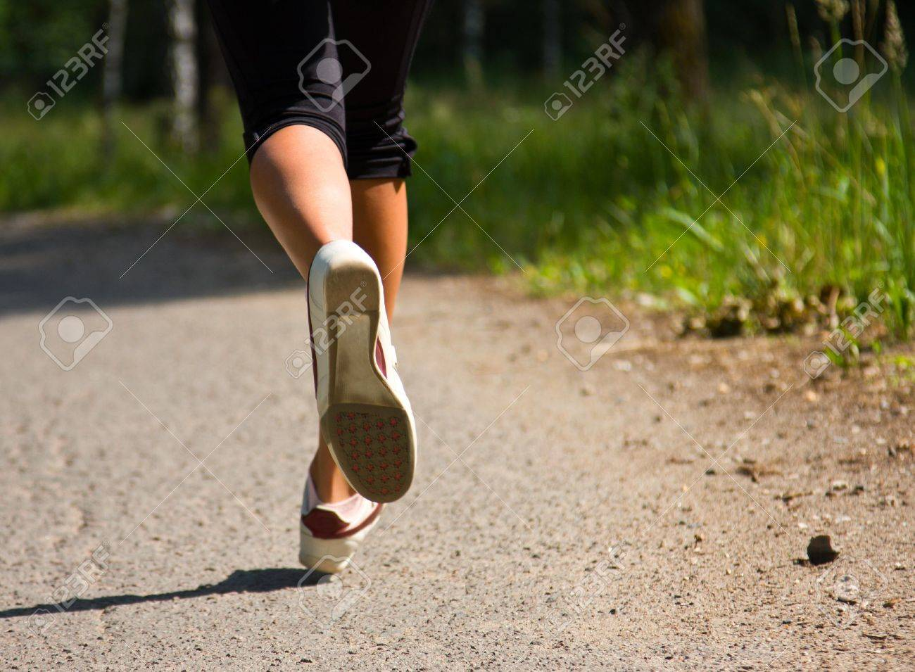 Girl running in the park. Active woman running. A confident female runner has the stamina to conquer all. Stock Photo - 7494033