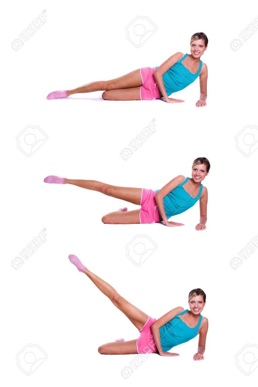 Woman do exercises Stock Photo - 8194902