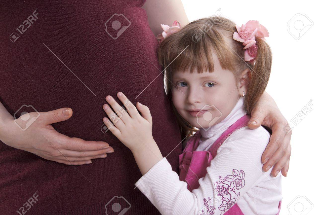 pregnant woman and her daughter Stock Photo - 10609146