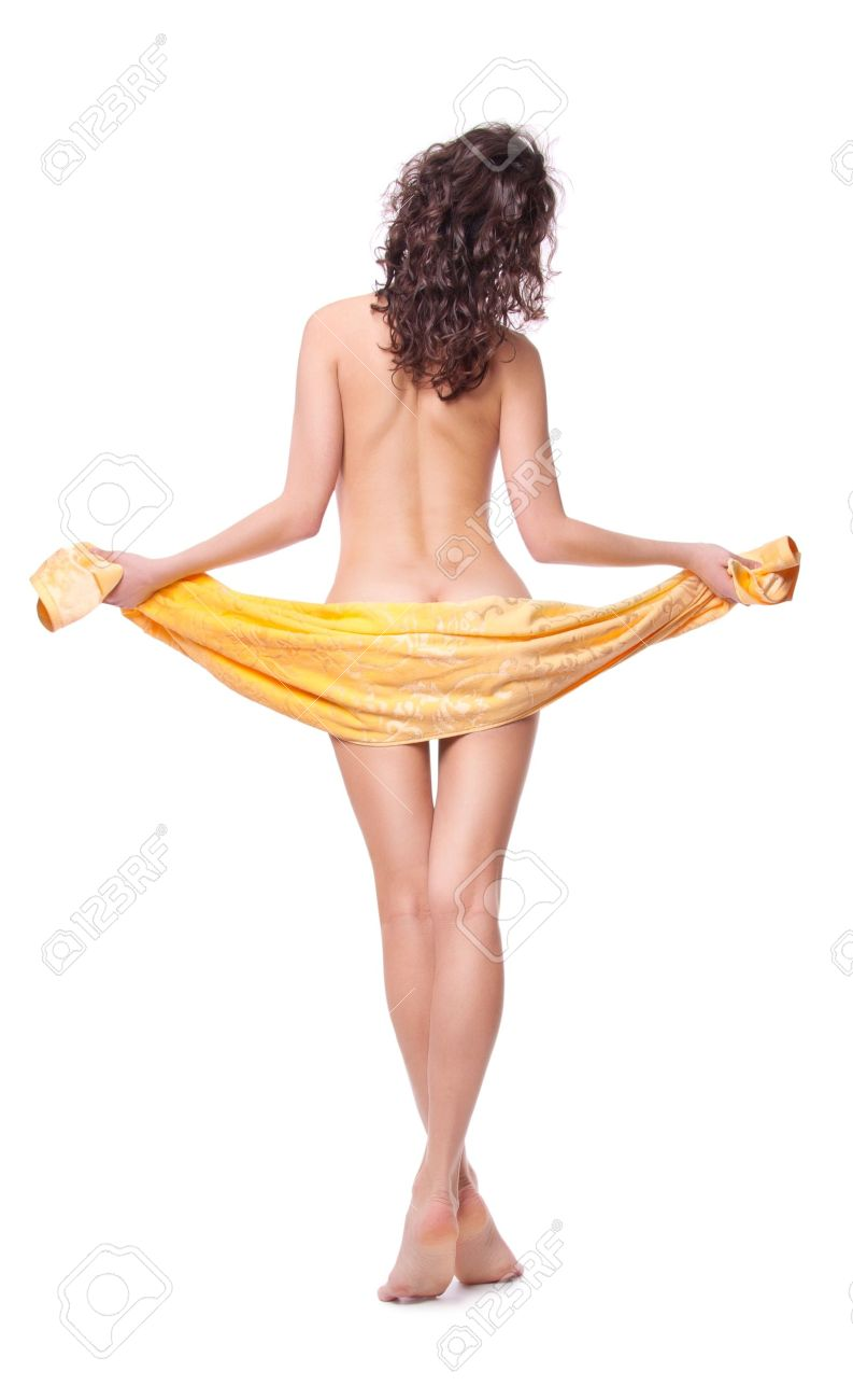 Naked girl is covered with a towel Stock Photo - 16165064