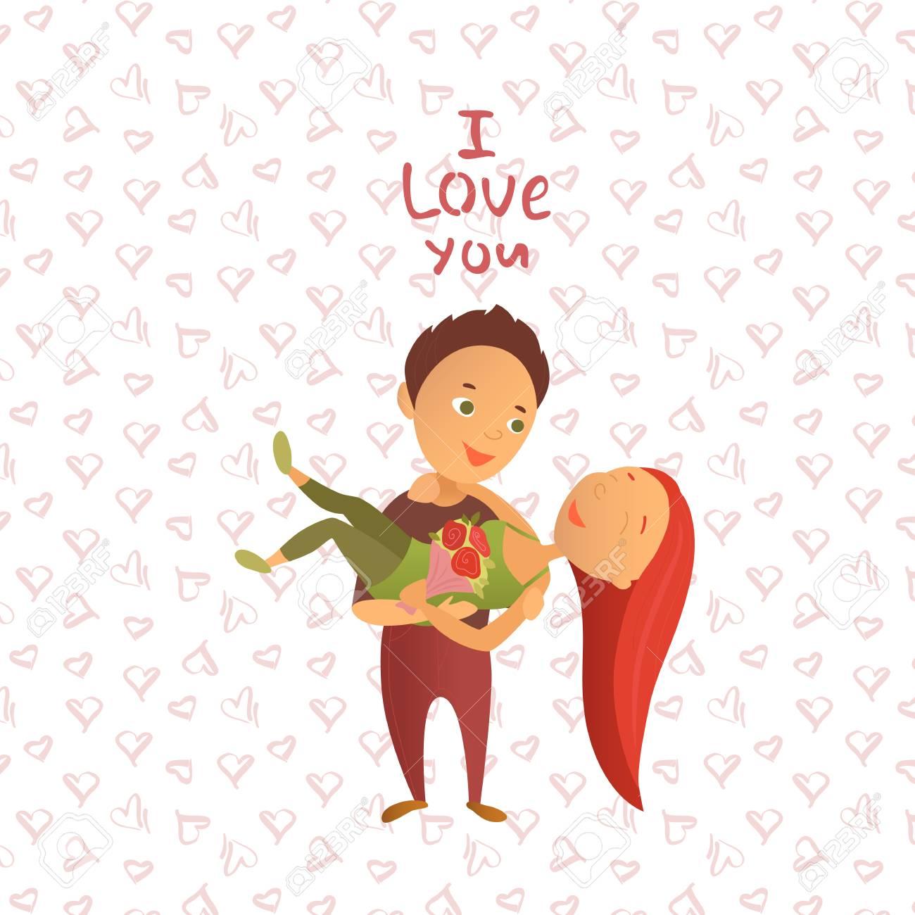Illustration Vectorielle La Saint Valentin Carte De Voeux