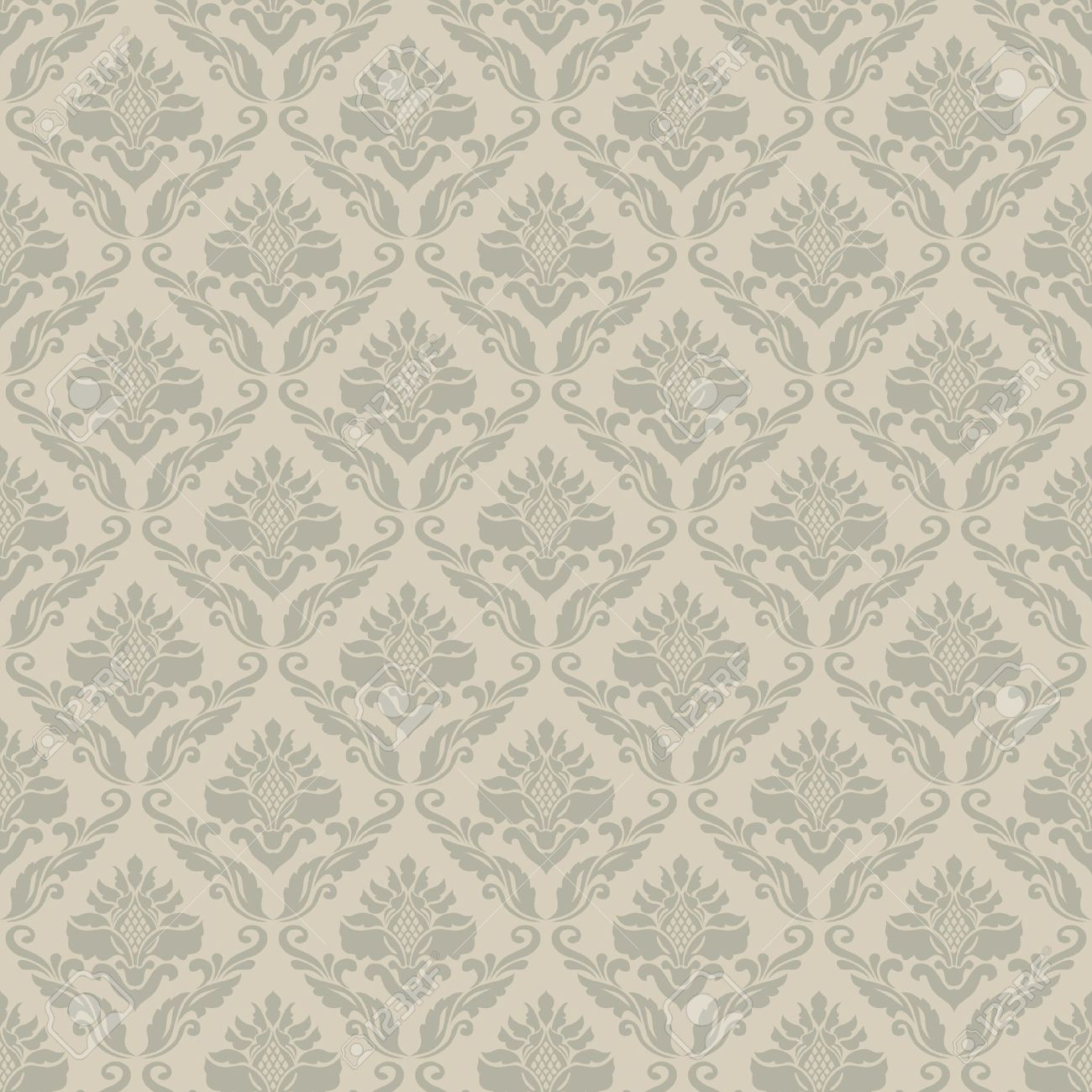 Classic vintage seamless wallpaper; damask ornmental pattern Stock Vector - 13529441