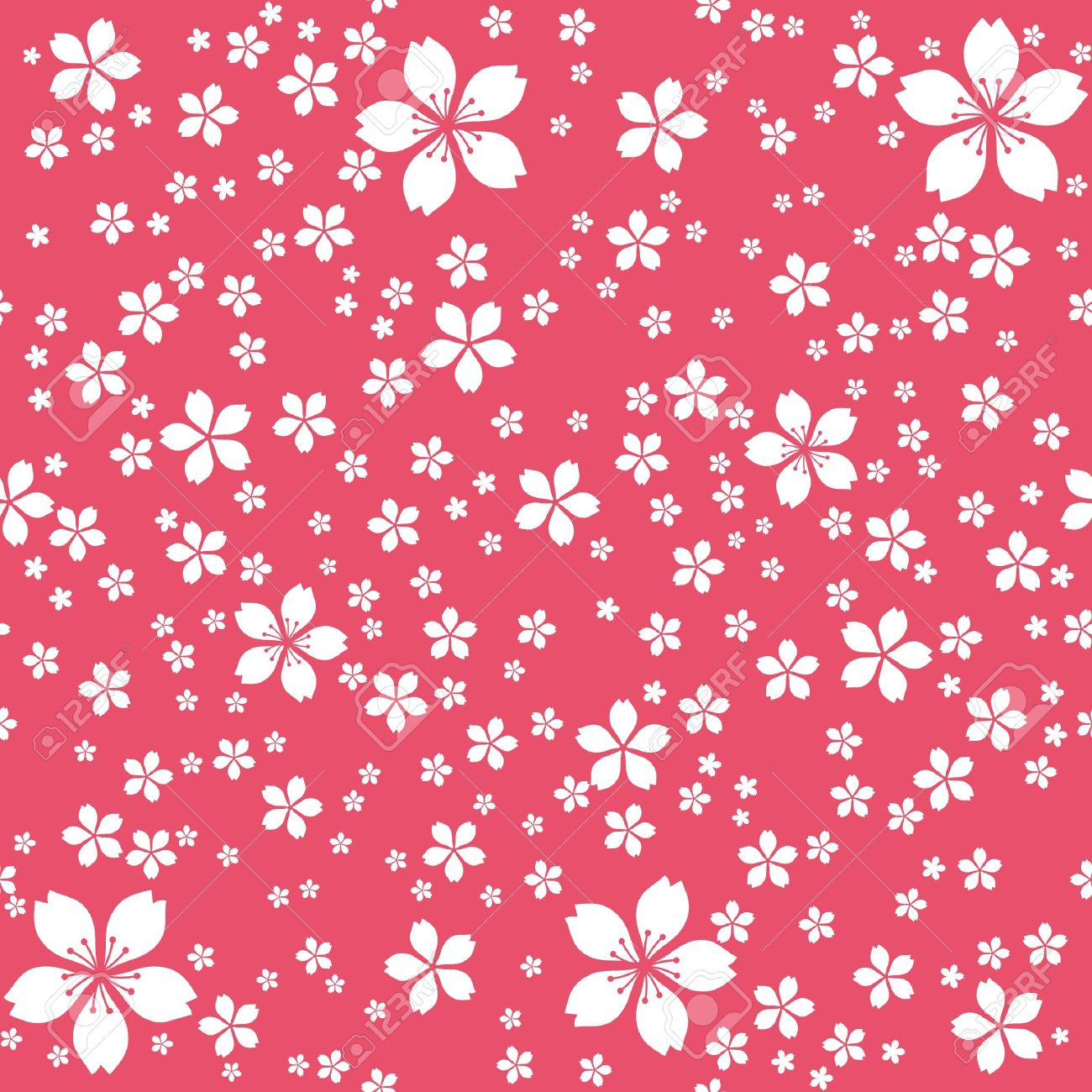 Cute floral seamless wallpaper white flowers at red background cute floral seamless wallpaper white flowers at red background stock vector 14254484 mightylinksfo