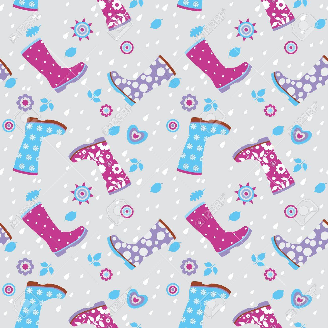 Seamless pattern of gumboots Stock Vector - 15349052